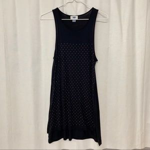 Old Navy long, studded evening tank top